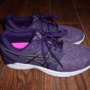Womens Asics Torrance Purple/Black Running Shoes